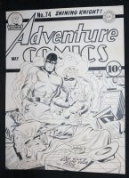 Adventure Comics #74 Cover Recreation - LA - Joe Simon and Jack Kirby Homage Comic Art