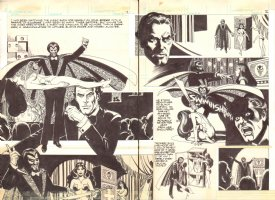 Creepy #124 pgs. 1 & 2 - 'Malphisto's Illusion' Title DPS - Gruesome Magic Trick - 1981 Comic Art
