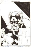Captain America #6 Cover - Captain America (Skrull) - 1998 Signed Comic Art