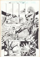 Hulk #6 p.5 - Hulk to Bruce Banner Transformation and Man-Thing - 1999 Comic Art