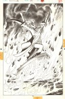 Marc Spector: Moon Knight #28 p.30 - Stained Glass Scarlet 100% Splash - 1991 Comic Art