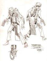 Steampunk Gotham Joker Unused DC Project Design Art - Finished Final Version - 2011 Comic Art