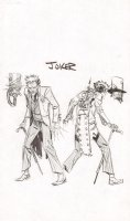 Steampunk Gotham Joker Unused DC Project Design Art Prelim - 2011 Comic Art