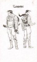 Steampunk Gotham Superman Unused DC Project Design Art Prelim - 2011 Comic Art