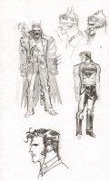 Steampunk Gotham Batman & Superman Unused DC Project Design Art Prelims - 2011 Comic Art