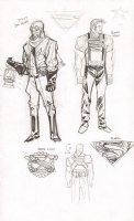 Steampunk Gotham Superman & Green Lantern Unused DC Project Design Art Prelims - Sold as a Pair - 2011 Comic Art