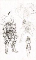 Steampunk Gotham Batman & Superman Robot Unused DC Project Design Art Prelims - 2011 Comic Art