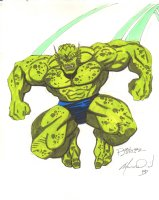 Abomination Color Commission - 1992 Signed  Comic Art