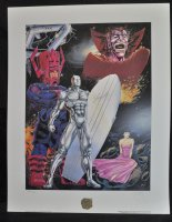 Guardian of the Spaceways: The Silver Surfer Print - Galactus & Mephisto - Signed by Ron Lim & STAN LEE - Ap 73/250 Comic Art