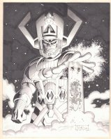 Galactus and His Herald the Silver Surfer Commission - Signed Comic Art