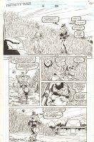 Infinity War #6 p.40 - Thanos Talking to Himself Alone in Cornfield - 1992 Comic Art