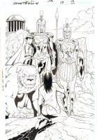 Countdown #17 p.15 - Amazonians Splash - 2008  Comic Art