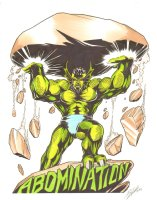 Abomination Color Commission - 10 x 12 (signed 2004)  Comic Art
