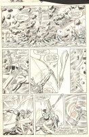 Solo Avengers #18 p.13 - Hawkeye vs. Texas Twister - 1989 Comic Art