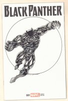 Black Panther Blank Variant Cover with a Black Panther Portrait Sketch on It - Signed Comic Art