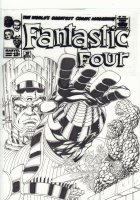 Fantastic Four Cover Re-Creation #1 - Galactus with the F4 and Silver Surfer - Signed Comic Art