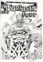 Fantastic Four Cover Re-Creation #2 - Galactus vs. the F4 and Silver Surfer - Signed Comic Art
