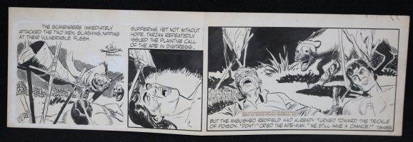 Tarzan Daily Strip - Tarzan in Peril - 7/24/1953 Signed Comic Art