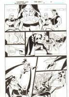 The Batman Strikes #17 p.6 - Batman vs. The Riddler and his Henchmen - 2006 Signed Comic Art