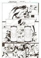 The Batman Strikes #17 p.7 - Batman vs. The Riddler and his Henchmen - 2006 Signed Comic Art