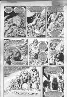 Angel Story p.8 - Evolution of man page - Warren black & white art Comic Art