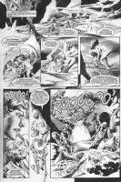 Hot babe sci-fi alien - Warren black & white art p.49 Comic Art