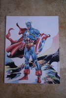 Captain America Pin-up (Rudy Nebres) Comic Art
