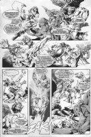 Zev & Rena vs. Throwbacks - Warren black & white art p.4 Comic Art