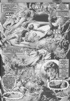 The Rook vs. Sabretooth B&W wash p.5 Comic Art