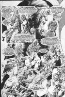 Sci-Fi story p.8 - B&W splash Comic Art