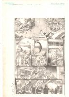 Marvels: Eye of the Camera #3 p.18 - Airplane Explosion - 2009 Signed Comic Art