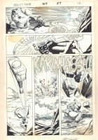 Thor #369 p.27 - Thor Fighting Action - 1986 Signed Comic Art