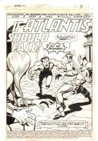 Defenders #8 p.1 - Valkyrie, Namor the Sub-Mariner, & Hawkeye '...If Atlantis Should Fall!' Title Splash - 1973 Comic Art