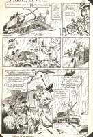 G.I. Combat #256 p.8 - Haunted Tank vs. Tiger Tank - 1983 Signed Comic Art