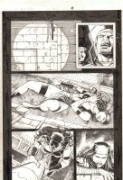 Elektra #27 p.5 - Elektra Shot - 2003 Signed Comic Art