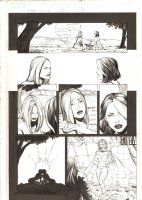 X-Men: The End #10 p.12 - Emma Frost White Queen and Rogue Kiss - 2005 Comic Art