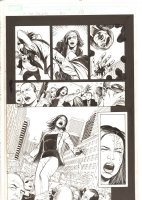 X-Men: The End #10 p.15 - Kitty Pryde Hit with a Brick - 2005 Comic Art