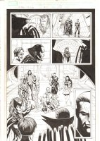 X-Men: The End #10 p.19 - Mr. Sinister, Gambit, Shaitan disguised as Storm, Statterstar, and Cable 1/2 Splash - 2005 Comic Art