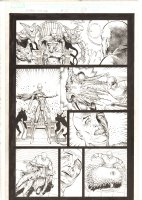 X-Men: The End #15 p.10 - Cassandra Nova vs. Professor Xavier Action - 2006 Comic Art