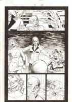 X-Men: The End #15 p.23 - Cassandra Nova Kills Lilandra in Professor Xavier's Mind - 2006 Comic Art