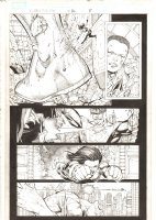 X-Men: The End #16 p.8 - X-23 slices Titans' Achilles Heel - Xavi and Monet Apps - 2006 Comic Art