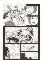 X-Men: The End #16 p.18 - Bishop Kills a Brood in front of Aliyah Bishop - 2006 Comic Art