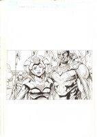 X-Men: The End #17 p.1 - Aliya Bishop and Lucas Bishop Recap - 2006 Comic Art