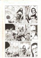 X-Men: The End #17 p.6 - Aliyah Bishop, Bishop, and Sage - Psylocke fakes her Death - 2006 Comic Art
