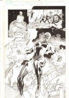 X-Men: The End #17 p.23 - Cassandra Nova possesses the Phoenix Force End Page Splash - 2006 Comic Art