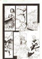 X-Men: The End #18 p.7 - Phoenix Force Cassandra Nova kills Dazzler & Storm - 2006 Comic Art