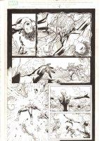 X-Men: The End #18 p.9 - Phoenix Force Cassandra Nova vs. Aliyah Bishop - 2006 Comic Art