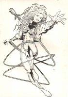 Hero Babe Character Design Art - 1994 Sean Chen  Comic Art