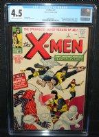 X-Men #1 - Origin & 1st Appearance of the X-Men (Professor X, Cyclops, Iceman, Angel, Beast, & Marvel Girl) and Magneto - CGC Grade 4.5 - 1963