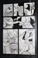 Fistful of Blood #1 p.5 - Written by Kevin Eastman - Blondie Shoots her Assaulters - 2002 Comic Art